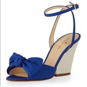 Kate Spade Iberis Royal Blue Bow Wedges